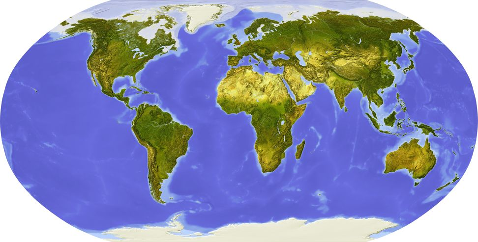 flat map of earth - photo #2
